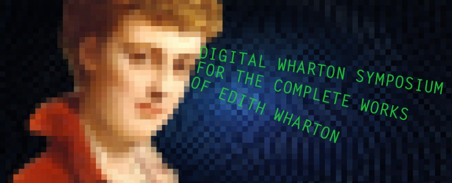 Edith Wharton pixelated